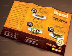 Cafe Menu Template Trifold Brochure Restaurant Cafe Menu Psd Template