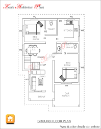 3 bed room 1500 square feet house plan architecture kerala square feet house plans