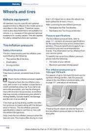 tire pressure BMW M235I 2014 F22 User Guide