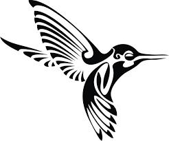 tribal hummingbird tattoo drawing. Fine Hummingbird And Tribal Hummingbird Tattoo Drawing A