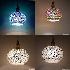 Grote Hanglamp Model Appel Van Glasmozaïek Met Duurzaam Hout Retro