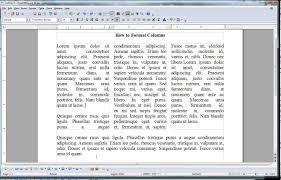How To Format Columns In Open Office Writer Youtube