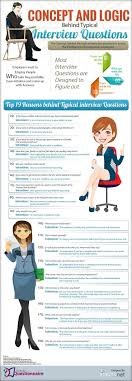images about interview tips interview body what is the logic behind the most popular interview questions infographic careeradvisordaily dug this up and thought it might be good to pin it