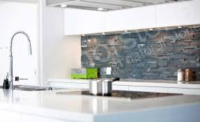 beautiful gray ledgestone panels used in a backsplash made from norstone charcoal rock panel collection