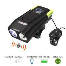Bike Light Sensor Us 15 6 21 Off Usb Bicycle Bike Light 2t6 4000mah Smart Light Sensor Lamp Speaker Horn Lights Riding Accessories Night Lights In Bicycle Light From