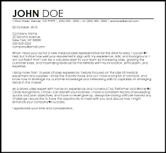 Sales Sample Cover Letter Medical Sales Rep Cover Letter No Experience