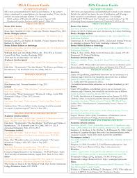 Mla Apa And Chicago Style Citation Guide