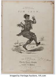 Sheet Music]. Thomas D. Rice. Jim Crow. D'Almaine, ca. 1836. | Lot #91333 |  Heritage Auctions