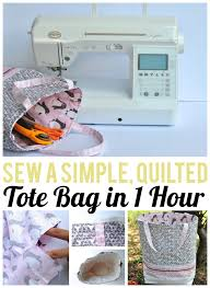 1-Hour Quilted Tote Bag Tutorial: FREE on Craftsy! & Sew a simple, quilted tote bag in 1 hour with this tutorial Adamdwight.com
