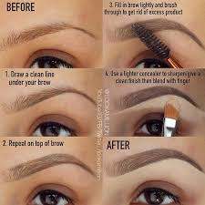 this technique is amazing for filling in eyebrows beauty eyebrows makeup