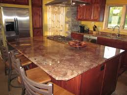 Granite Kitchen Table Tops Stunning Modern Kitchen With Wooden Table Tops And Silver Vent
