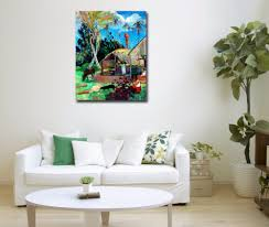 Palm Tree Decor For Living Room Aliexpresscom Buy Palm Tree And Black Pigs By Gauguin Famous