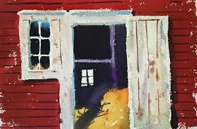 awesome open barn door and open barn door painting len stomski