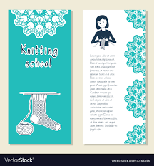 Knitting Cards Designs Cards Template For Knitting School Knit