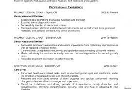 Dental Assistant Description For Resume Dental Assistant Job Resume