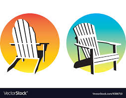 adirondack chair vector.  Vector Adirondack Chair Sunset Graphics Vector Image To Vector A