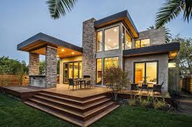 Modern Nice Design Modern Houses With Stone With Stone Wall And Wooden Wall  Can Be Combined ...