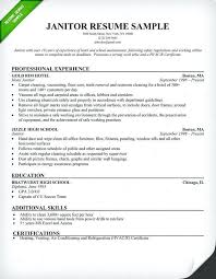 Resume For Maintenance Worker Impressive Sample Resume For Custodial Worker Hcsclubtk