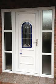 white double front door. Ecostar-double-glazed-white-front-door White Double Front Door A