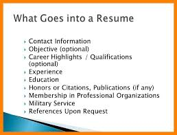 What Goes On A Resume Magnificent What Goes On A Resume Musiccityspiritsandcocktail
