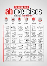 bodyweight exercises chart easy to