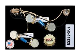 prewired es 335 wiring harness for gibson cts switchcraft pio reverb gibson 335 electronics at Pre Wired 335 Harness