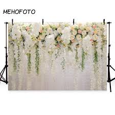 Paper Flower Wedding Backdrops Us 6 48 41 Off Mehofoto Photography Backdrops Floral Wedding Backdrop For Party Paper Flower Wall Photo Booth Studio Background In Background From
