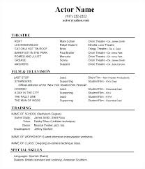 Theatre Resume Template Word Awesome Beginner Resume Template Beginner Resume Examples Theatre Example