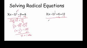 solving radical equations with fractional exponents