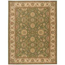 persian crown suret green 8 ft x 11 ft area rug
