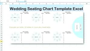 table seating chart template excel wedding plan top