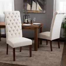 Tufted Dining Room Sets Amazoncom Best Selling Natural Tall Tufted Dining Chair 2 Pack