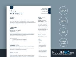 Nyx Contemporary Simple Resume Template Resumgocom
