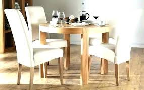 cream and oak dining table 6 chair dinner chairs round kitchen e