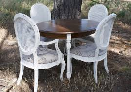 good classy brown and white oak wood round dining table es french country set outdoor extendable oval rounded back chairs