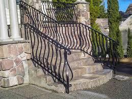 outdoor metal stair railing. Wrought Iron Outdoor Stair Railings, Los Angeles, Malibu, Calabasas, Van Nuys, Metal Railing