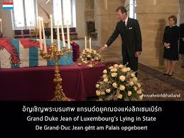 Image result for Grand Duke Jean Lying In State