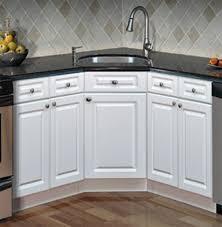 Beautiful Image Of: Corner Kitchen Sink Base Cabinet Design