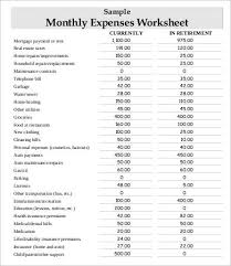 Household Expense Sheet Monthly Expense Sheet 9 Free Word Pdf Documents Download