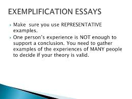 exemplification examples essays neurotic costs ga exemplification examples essays