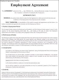 Labour Contract Template Interesting Printable Sample Employment Contract Sample Form Laywers Template