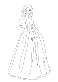 Barbie Coloring Pages For Girls Free Printable Barbie Pinterest