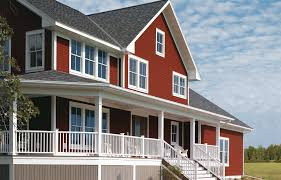 house siding colors. There Are Few Colors That Evoke Emotions In People More Than Red. As A Siding Color For Houses, Reds Reminiscent Of The Old, Rusty Barn Red House Allura Fiber Cement