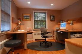 nice small office interior design. Decoration, Elegant Decoration Of Small Office Designs With Study Table Also Silver Arch Lamps Nice Interior Design
