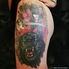 татуировка пантера и девушка самурай открываем новую рубрику