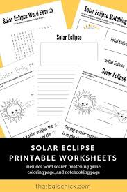 This solar eclipse craft for kids is simple and fun. Free Printable Solar Eclipse Worksheet Pack Homeschool Giveaways Solar Eclipse Solar Eclipse Activity Solar And Lunar Eclipse