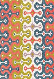Patterned Best Upholstery Fabric Patterned Linen Handprinted DARYA IKAT