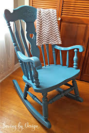wooden rocking chair for nursery. Our Nursery Rocking Chair Was In Need Of A Makeover For Third Child. Wooden