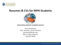 The Curriculum Vitae Handbook Cool Resumes And CVs For MPH Students Fall 48