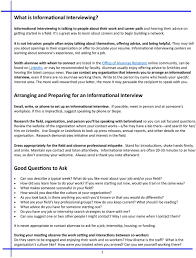 Good Questions To Ask In An Informational Interview Informational Interviewing And The Art Of Networking Pdf
